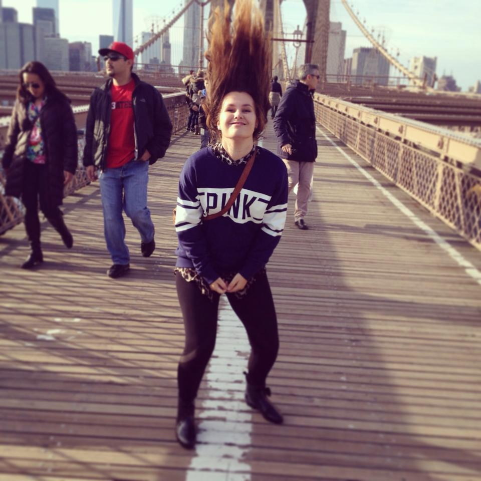 Krystal Liebezeit Hair flick Brooklyn Bridge.jpg